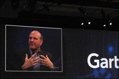Ballmer Banters, Rants with Gartner Analysts