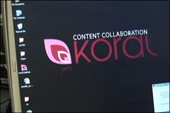 Koral, content collaboration for enterprises, demonstrated