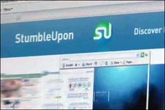 Demo of StumbleUpon, surfing tool for the community-driven Internet