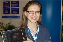 Liliana Rojas on Ultra Mobile PC at IDF San Francisco