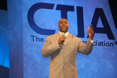 PayPal President Jeff Jordan and Magic Johnson Push eWallet Concept at CTIA
