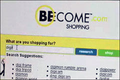 Demo of new shopping search engine: Become.com